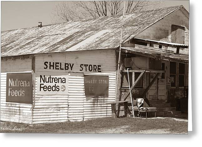 Screen Doors Greeting Cards - Vintage Store in Shelby Greeting Card by Connie Fox