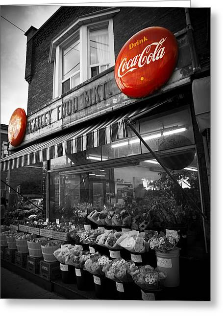 Local Food Places Greeting Cards - Vintage Store Greeting Card by Kamil Swiatek