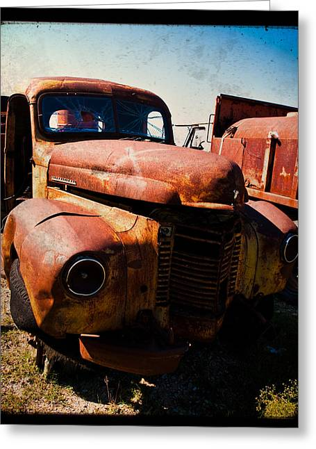Nikon D80 Greeting Cards - Vintage Truck in TTV Greeting Card by Sonja Quintero