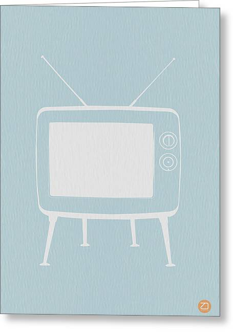 Dwell Digital Art Greeting Cards - Vintage TV Poster Greeting Card by Naxart Studio