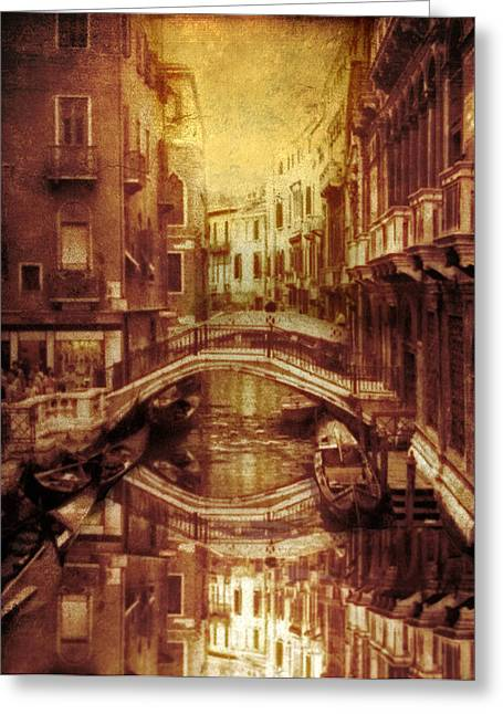 Antiquity Greeting Cards - Vintage Venice Greeting Card by Jessica Jenney