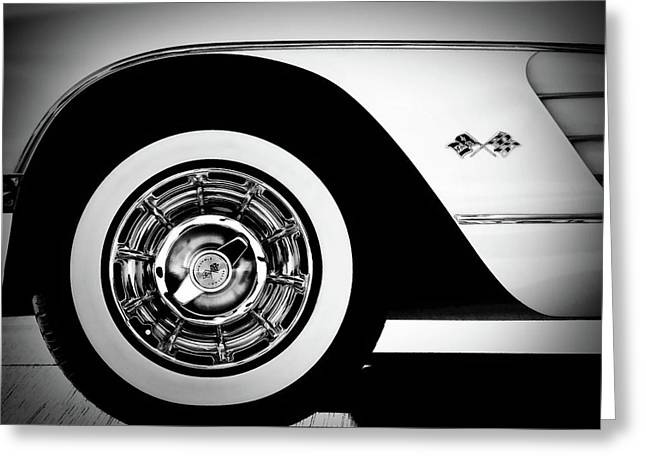 Classic Digital Greeting Cards - Vintage Vette Greeting Card by Douglas Pittman