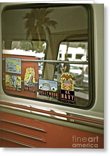 Palm Springs Car Show Greeting Cards - Vintage Volkswagen Vagabond Greeting Card by Gwyn Newcombe