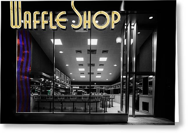 Vintage Waffle Shop Greeting Card by Andrew Fare