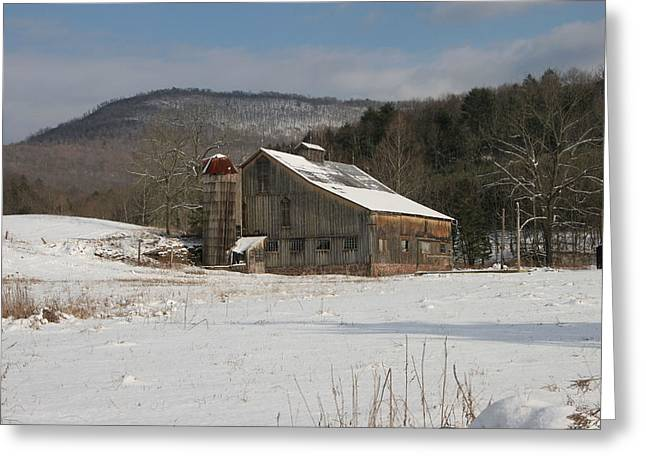 Tin Roof Greeting Cards - Vintage Weathered Wooden Barn Greeting Card by John Stephens