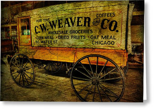 Vintage Wholesale Groceries Wagon - C.w. Weaver Company - Vintage - Nostalgia - General Store -  Greeting Card by Lee Dos Santos