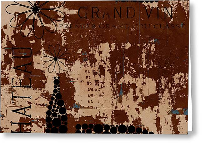 Chic Mixed Media Greeting Cards - Vintage Wine Greeting Card by Frank Tschakert