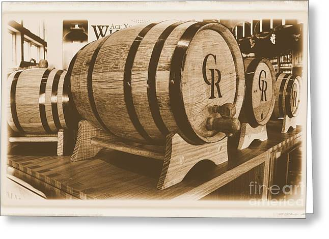 Vintage Winery Photo Greeting Card by Marsha Heiken