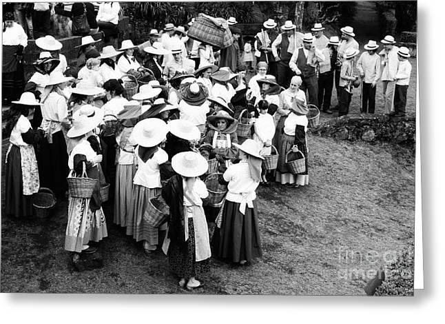 Vintage Workers Greeting Card by Gaspar Avila