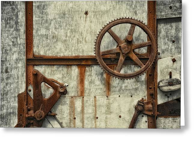 Rusty Gears Greeting Cards - VINTAGE.9264a Greeting Card by Gary LaComa