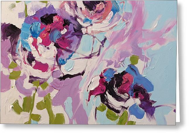 Award Winning Art Greeting Cards - Violet Dreams Greeting Card by Linda Monfort