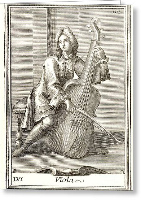 Violoncello, 1723 Greeting Card by Granger
