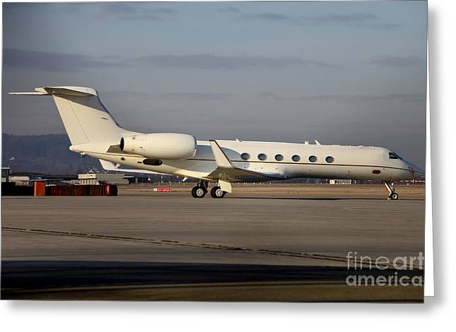 Vip Jet C-37a Of Supreme Headquarters Greeting Card by Timm Ziegenthaler
