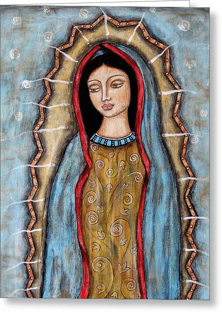 Virgen De Guadalupe Art Greeting Cards - Virgen De Guadalupe Greeting Card by Rain Ririn