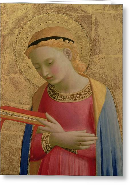 Holy Bible Greeting Cards - Virgin Annunciate Greeting Card by Fra Angelico