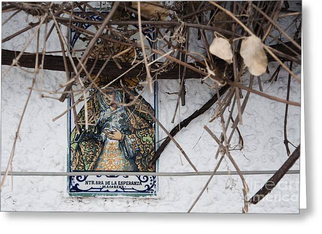 Virgin Mary of Hope Greeting Card by Agnieszka Kubica