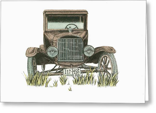 Best Sellers -  - Barn Pen And Ink Greeting Cards - Virginia Antique Greeting Card by Mike OBrien