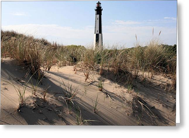 Virginia Beach Greeting Cards - Virginia Beach and the New Cape Henry Lighthouse Greeting Card by JC Findley