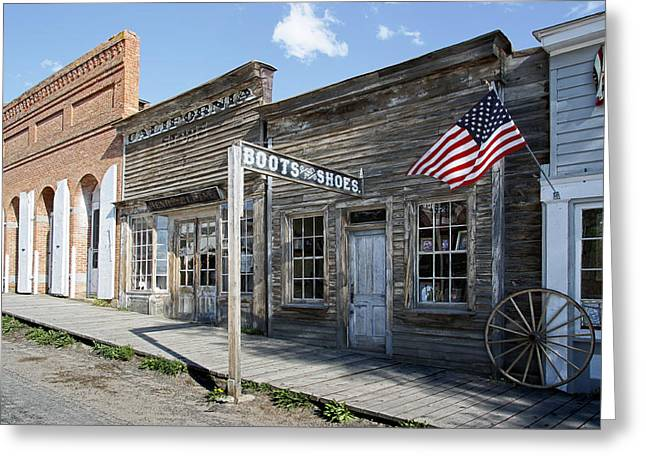 Montana Digital Art Greeting Cards - Virginia City Ghost Town - Montana Greeting Card by Daniel Hagerman