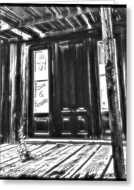 Virginia City Ghost Town Door II Greeting Card by Susan Kinney