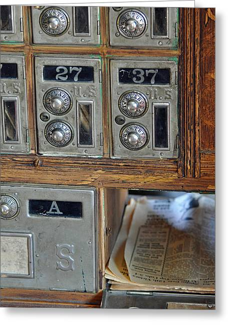 Postal Greeting Cards - Virginia City Post Office Box Greeting Card by Bruce Gourley