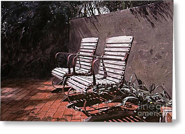 Patio Greeting Cards - Virginia Greeting Card by David Lloyd Glover
