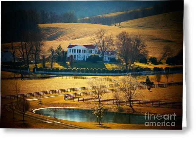 Northern Virginia Greeting Cards - Virginia Mansion Greeting Card by Joyce Kimble Smith