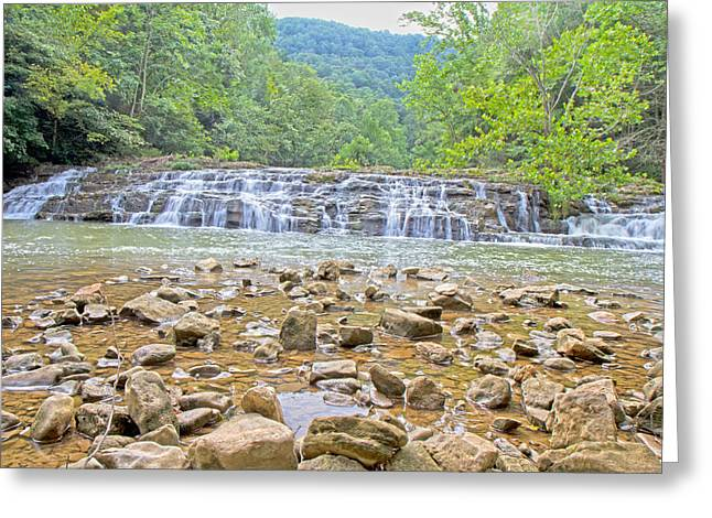 Virginia Waterfalls Greeting Card by Betsy Knapp