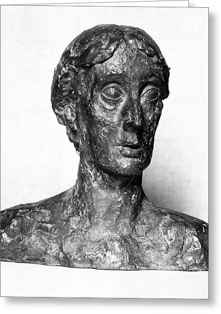 Portrait Sculpture Photograph Greeting Cards - Virginia Woolf (1882-1941) Greeting Card by Granger