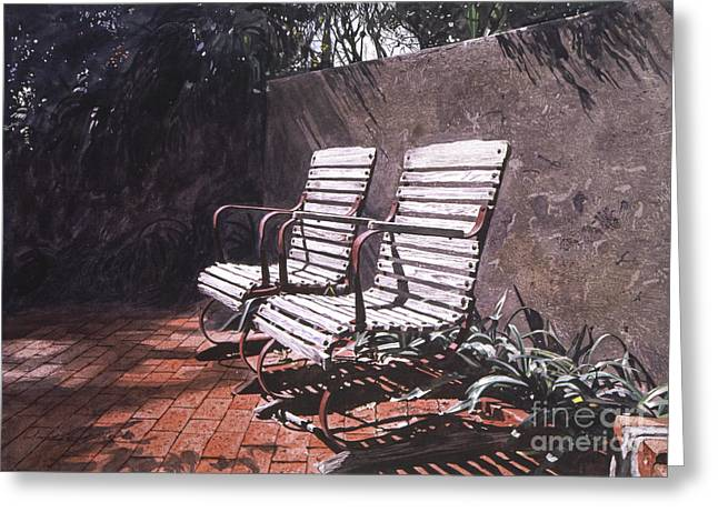 Most Paintings Greeting Cards - Virginias Repose Greeting Card by David Lloyd Glover