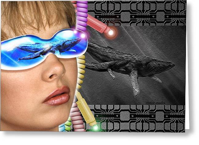 Virtual Reality Greeting Cards - Virtual Reality Greeting Card by Victor Habbick Visions
