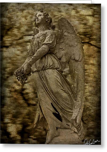 Recently Sold -  - Garden Statuary Greeting Cards - Virtuous Greeting Card by Christine Hauber