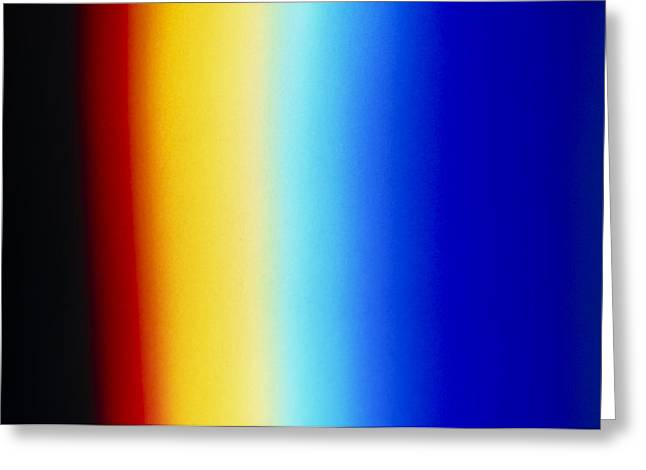 Spectrum Greeting Cards - Visible Light Spectrum Greeting Card by David Parker