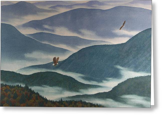 Smoky Paintings Greeting Cards - Vision of the Great Smokies Greeting Card by Glen Heberling