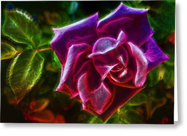 Rose Petals Digital Art Greeting Cards - Visions From A Rose Greeting Card by Bill Tiepelman