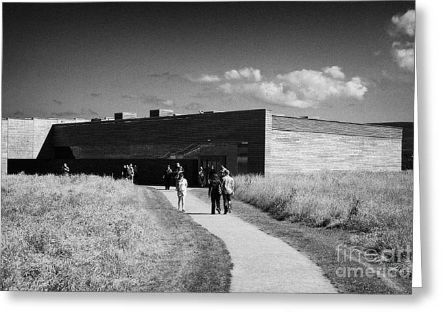 Battlefield Site Photographs Greeting Cards - visitors centre at Culloden moor battlefield site highlands scotland Greeting Card by Joe Fox