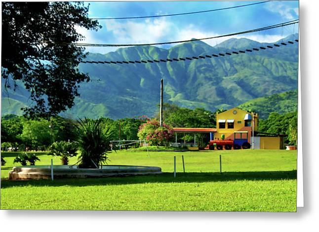 Rincon Photographs Greeting Cards - Vista del Ferrocalejo en Rincon Grande Greeting Card by Bibi Romer