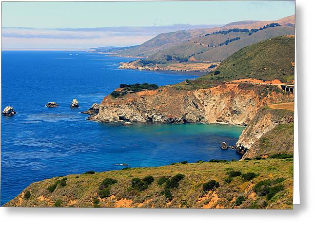 Us1 Greeting Cards - Vista on the PCH Greeting Card by E Gibbons
