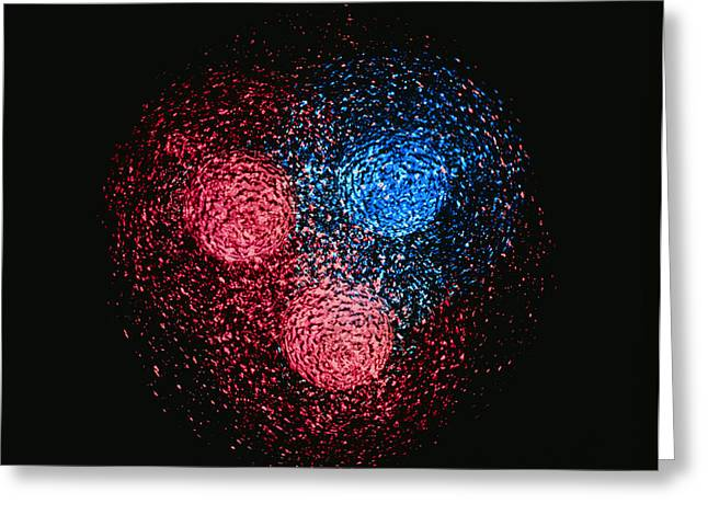 Quark Greeting Cards - Visualisation Of Quark Structure Of Neutron Greeting Card by Arscimed