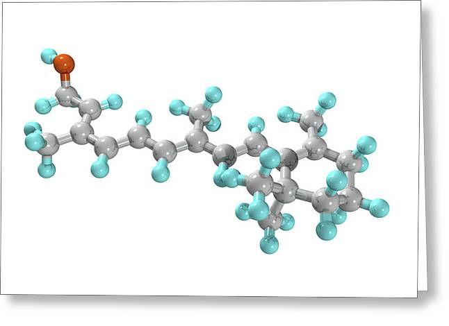Essential Greeting Cards - Vitamin A Molecule Greeting Card by Laguna Design