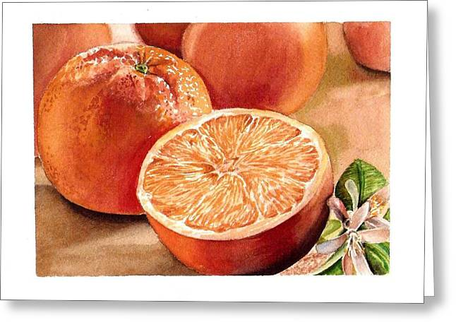 Counter Greeting Cards - Vitamin C Greeting Card by Irina Sztukowski