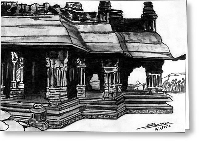 Shashi Kumar Greeting Cards - Vittala Temple Hampi Greeting Card by Shashi Kumar