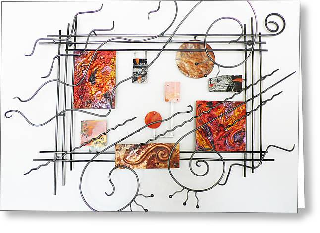 Steel Sculptures Greeting Cards - Vivace Greeting Card by Idelle Okman Tyzbir