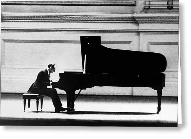 Piano Greeting Cards - Vladimir Horowitz Greeting Card by Granger