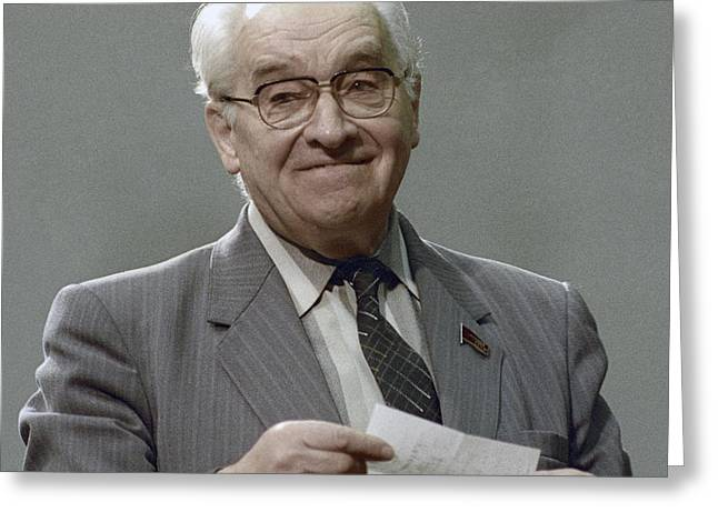 Information For Older People Greeting Cards - Vladimir Kotelnikov, Soviet Engineer Greeting Card by Ria Novosti