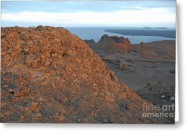 Volcanic Landscape At Sunset Greeting Card by Sami Sarkis