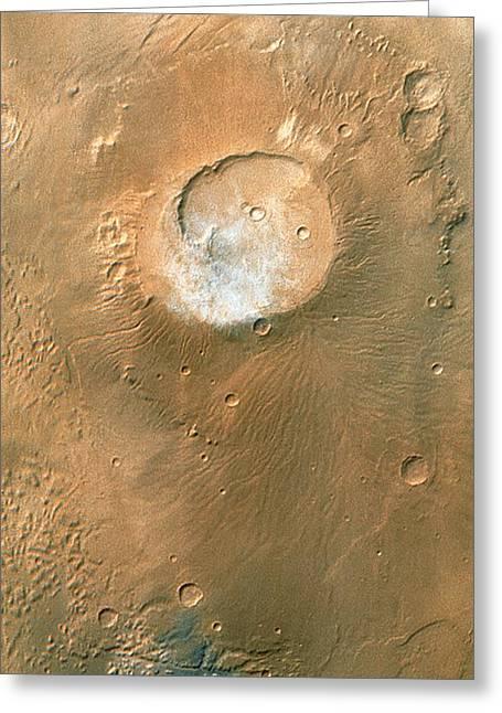 Volcano On Mars Greeting Card by Nasa