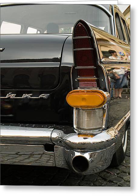 Valuable Objects Greeting Cards - Volga old car Greeting Card by Odon Czintos