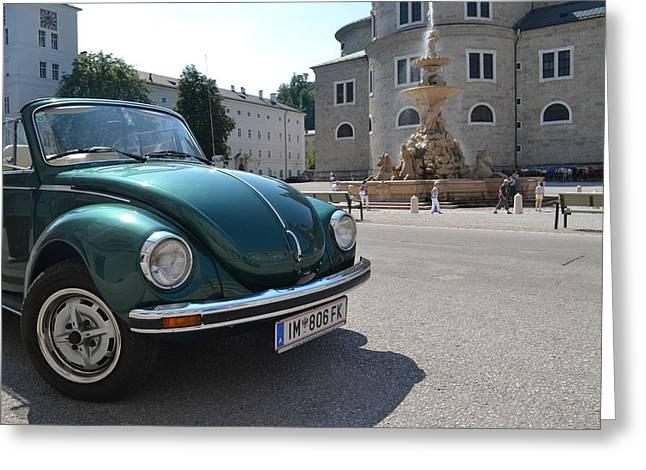 Original Vw Beetle Greeting Cards - Volkswagen Beetle Greeting Card by Arthur Hofer