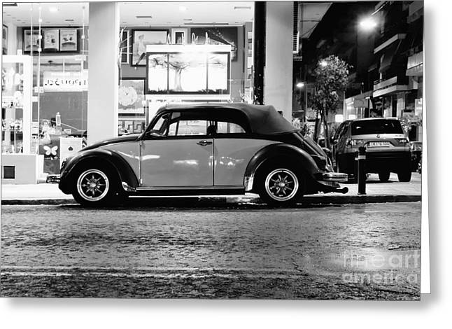 Volkswagen Beetle Greeting Card by Hristo Hristov